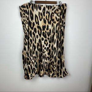 H&M Cheetah Print Calf Length Skirt